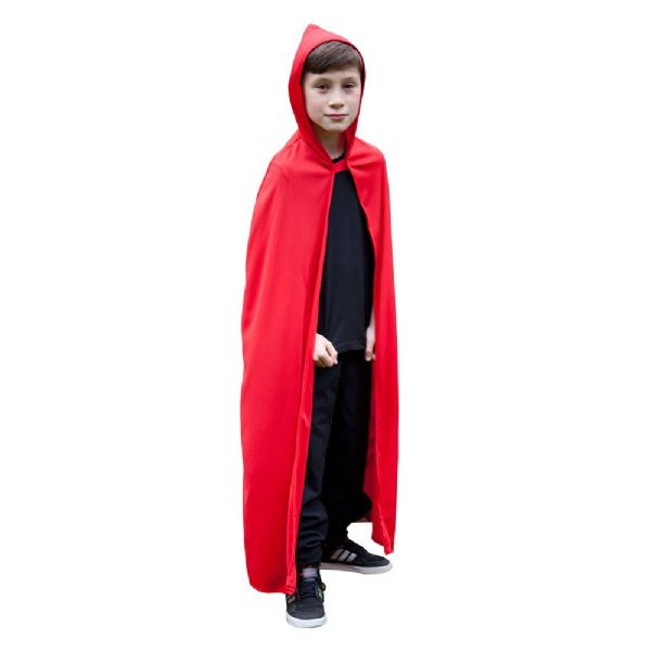 Childs Hooded Cape  - Red